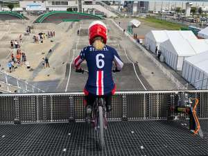 Felicia Stancil at the Tokyo 2020 Test Event