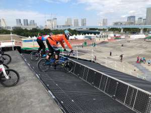 On the gate at the Tokyo 2020 Test Event