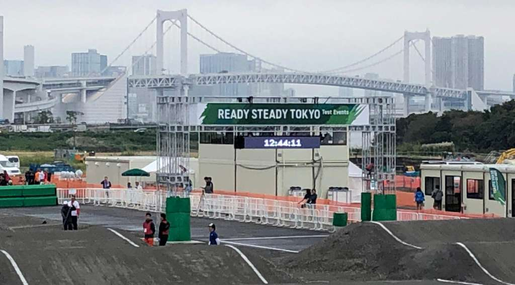 Test Event at the Tokyo 2020 Olympic BMX Track